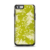 The Vintage Green & White Floral Pattern Apple iPhone 6 Otterbox Symmetry Case Skin Set