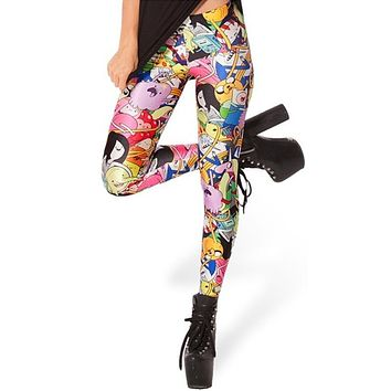 EAST KNITTING X-038 Printed Leggings