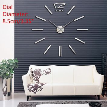 Modern Acrylic Art 3D DIY Mirror Surface Wall Sticker Clock Home Office Room Decoration