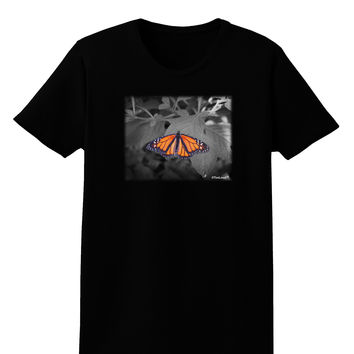 Monarch Butterfly Photo Womens Dark T-Shirt