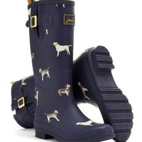 Navy Dog Wellyprint Womens Print Welly | Joules US