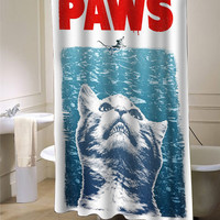 Crazy Cat Meow Paws Jaws shower curtain customized design for home decor