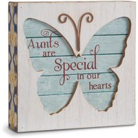 Aunts are special in our hearts Butterfly Plaque