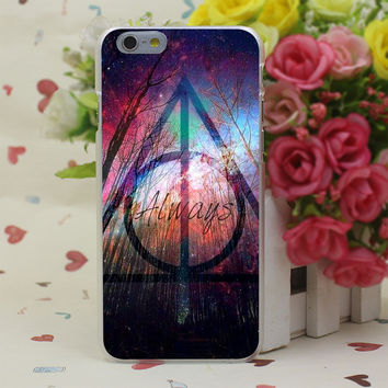Colorful Deathly Hallows Symbol Case Cover for iPhone 4 4S 5 5S SE 5c 6 6s 7 7 Plus
