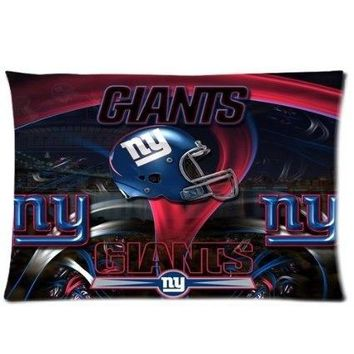 New York Giants 20X30 Custom Soft Flannel Pillow Case Cover with One Side Printed for Sport Fans
