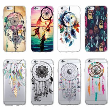 TOMOCOMO For iPhone 7 7Plus 6 6S 6Plus 8 8Plus X 5 5S Fashion Dream Catcher Boho Tribal Soft TPU Phone Case Cover Coque Fundas