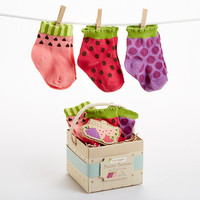 "Baby Aspen ""Fruity Booties"" 3 Pairs of Socks for Baby"