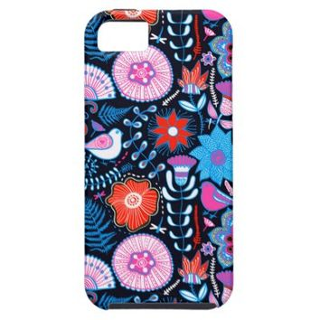 Colorful Bright Flower Pattern Apple iPhone 5 Covers