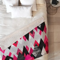 Elisabeth Fredriksson Pink Peaks Fleece Throw Blanket