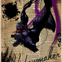 Overwatch art print, Widowmaker art, video game art
