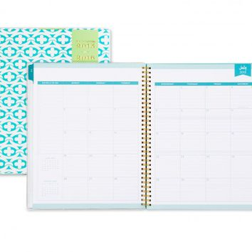 Day Designer Blue Geo CYO Weekly/Monthly 8.5 x 11 Planner July 2015 - June 2016