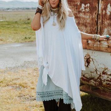 The Wren Oversized Tunic Top - White