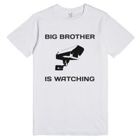 Big Brother Is Watching Surveillance Camera T Shirt-White T-Shirt
