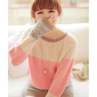 Jacquard Love Knot Sweater JCHC
