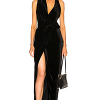 Rick Owens Velvet Limo Dress in Black | FWRD