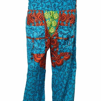 Womens Harems Pants Yoga Boho Cuffed Trousers Blue Mandala Baggy Meditation: Amazon.ca: Clothing & Accessories