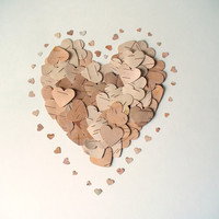 Birch Bark Heart Confetti  Large and Small by jadenrainspired