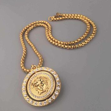 DCCKNY1Q Boys & Men Fashion Hip Hop Versace Necklace