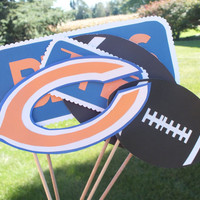 Photo booth props: The chicago bears football