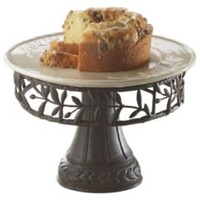 One Kings Lane - Outdoor Grilling - Olivetto Plate & Metal Stand
