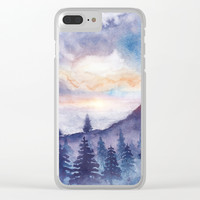 Into The Forest IX Clear iPhone Case by Marco Gonzalez