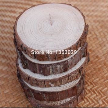 10pcs DIY Handcraft Wood Material DIY Wood Crafts Log Sheet Wood Wedding Decoration Rustic home decor mariage marriage vintage