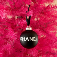 Custom Listing For Connie - Black & White Christmas Tree Ornament
