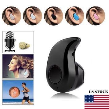 NEW Mini Wireless Bluetooth 4.1 Stereo In-Ear Earbud Headset Earphone Earpiece