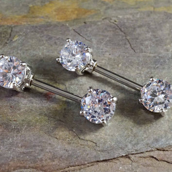 Crystal Nipple Barbell Jewelry Barbell