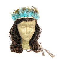 Festival Headdress, Feather Crown, Indian Feather Headdress, Tribal Headpiece, Native American Headdress, Indie, Hippie, Bohemian, Gypsy