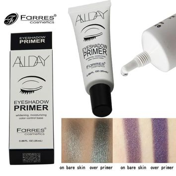 New FaRRES Brand Easy to Absorb Eyes Makeup Eyeshadow Primer Cosmetics Easy to Wear Moisturizer Long Lasting Base Primer