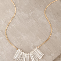Crystal Clear Gold Necklace