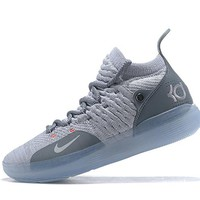 Mens Kevin Durant KD 11 Wolf Gray Basketball Shoes