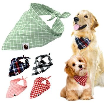 Dog Bandana Plaid Pet Scarf Bow ties