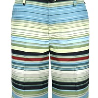 Retro Stripe ProCool Golf Shorts (Green/Black) - Price Slashed!