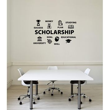 Vinyl Wall Decal Scholarship School University Education Interior Stickers Mural (ig5894)