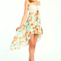 Floral Hi Low Dress