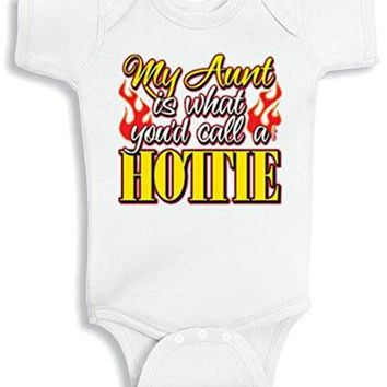 Lil Shirts My Aunt Is What You'd Call A Hottie Baby Bodysuit