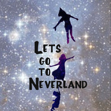 Lets Go To Neverland Art Print by Amber Rose