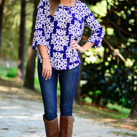 All Of Me Blouse, Blue