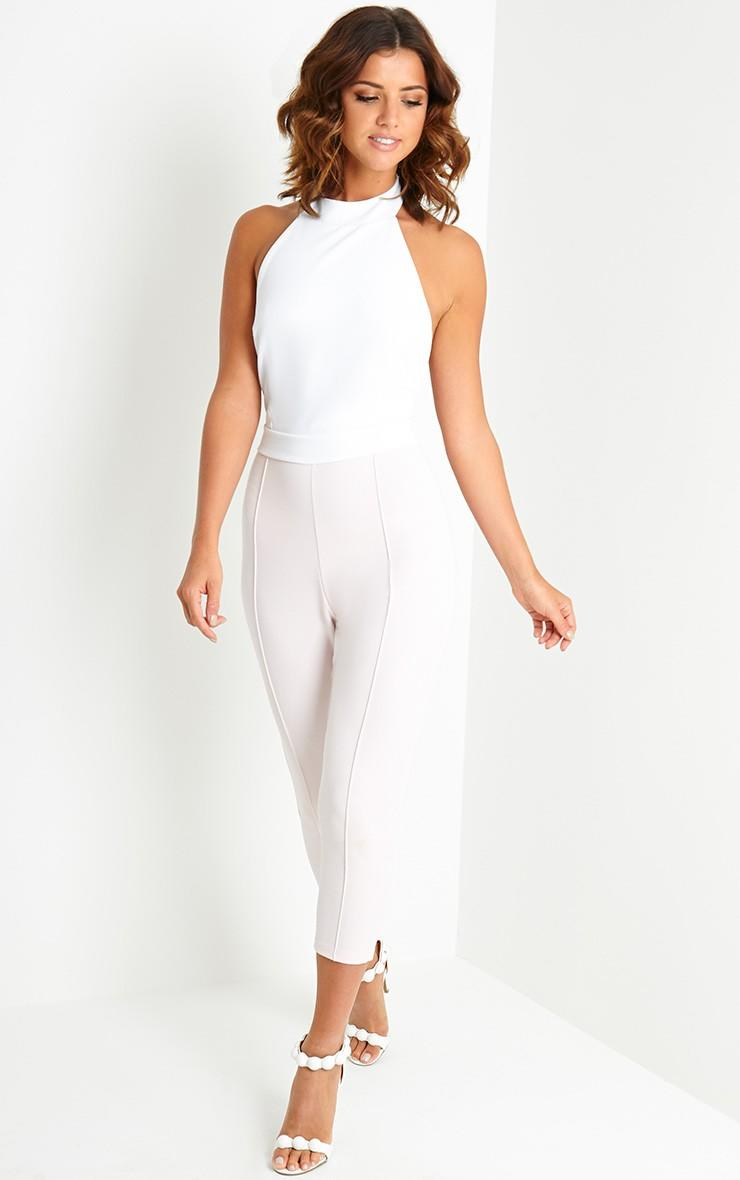 2539a64fb1 Nicki Cream Backless Jumpsuit - Jumpsuits from Pretty Little
