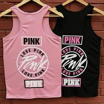 Victoria's Secret PINK Hip hop yoga movement: PINK: boot leisure vest
