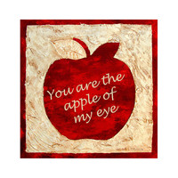 Big Apple In Red - You are the apple of my eye - by South Africa Artist Nora Lemmon Digital JPG Download