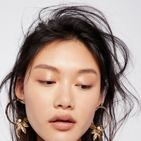 Free People Trapeze Pearl Hoops
