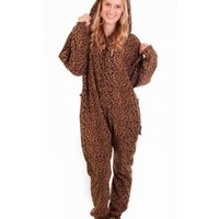 Footed Lethargic Leopard Onesuit