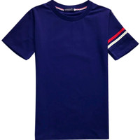 Navy Stripe Printed T-shirt