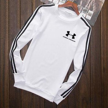 ESBUP0 Under Armour Fashion Print Cotton Long Sleeve Sweater Pullover Sweatshirt