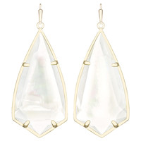 Kendra Scott Carla Earrings in Gold and Mother of Pearl