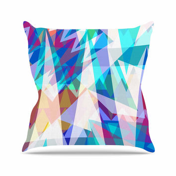 "Miranda Mol ""Triangle Party"" Multicolor Outdoor Throw Pillow"
