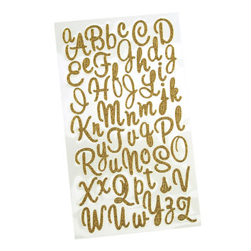 best alphabet letter stickers products on wanelo With gold cursive letter stickers